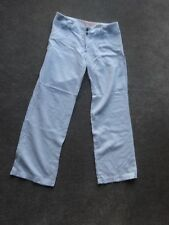 NEW LOOK MATERNITY WHITE UNDER BUMP LINEN MIX TROUSERS SIZE 8