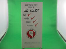 CITY OF LAS VEGAS RECREATION DEPT. WHAT ELSE IS THERE TO DO IN VEGAS BROCHURE