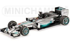 MINICHAMPS 410 140244 MERCEDES AMG F1 model L Hamilton Win Bahrain GP 2014 1:43