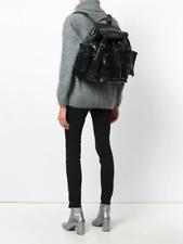 YVES SAINT LAURENT BACKPACK BLACK POLISHED LEATHER backpack/bag/handbag  XLarge