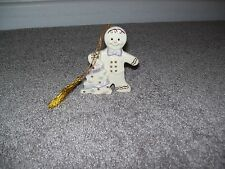 Lenox Gingerbread Man Ornament 2001 With Christmas Tree