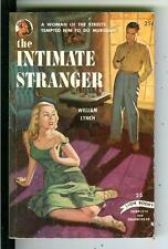 THE INTIMATE STRANGER by Lynch, rare US Lion #25 crime noir gga pulp vintage pb