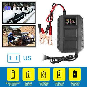 Intelligent 12V 20A Lead Acid Battery Charger Car Motorcycle US/EU ATF