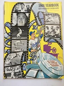 Los Angeles Dodgers Yearbook - 1968 Ten Years Of Thrills