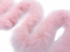 2 Yards - Baby Pink Turkey Medium Weight Marabou Feather Boa 25 Gram Craft Party