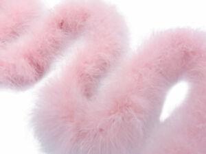 2 Yards - Baby Pink Turkey Medium Weight Marabou Feather Boa 25 Gram Craft Party