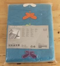 "Ikea Kryp Slanda Blue Butterfly Baby Crib Bedding Blanket 30"" x 39"" Sealed"