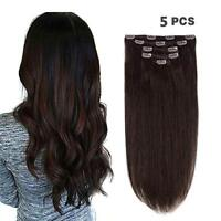 Real Human Hair Remy Hair Extensions Clip in Natural Hair for women