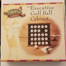 Clubhouse Collection Executive Golf Ball Cabinet Mahogany Finish NEW IN BOX