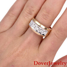 Estate Diamond 14K Two Tone Gold Mens Band Ring 9.5 Grams NR