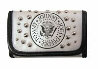 Ramones White Studded Embossed Logo Snap Wallet New Official Punk Rock Band