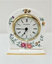 "New ListingWedgwood Bone China Small Mantel Mantle Clock ""Avebury"" ~ Keeps Excellent Time"