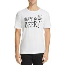 Noize Mens Happy Beer White Graphic Shore Sleeve Tee T-shirt XXL BHFO 7983