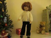 "NO DOLL Darling little cardigan sweater made for 10"" Boneka Dianna Effner"