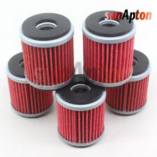 5x Oil Filter For Yamaha Wr450F Wr 450F Wr 450 F Wrf450 2003-2012 YZ450F 2003-13