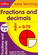 Collins Easy Learning Fractions and Decimals Ages 7-9 BRAND NEW BOOK (P/B 2015)