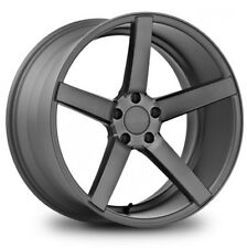 4X 20 INCH MATT BLACK STAGGERED CONCAVE Wheels 20X8.5, 20X9.5  MOST 5 STUD CARS
