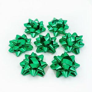 100PC Green Mini Metallic Star Bows Gift Wrapping Christmas St. Patricks Day