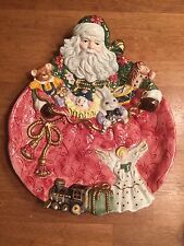 Vintage FITZ AND FLOYD Santa Claus and Toys Plate