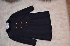 Bonpoint girls dark blue military style coat 4T