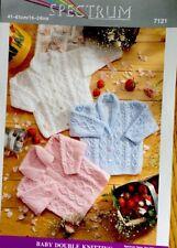 "Spectrum DK Knitting Pattern Babies Cardigan Size 16/24"" Chest"