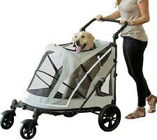 Pet Gear Expedition No-Zip Pet Stroller in Fog Grey - Open box
