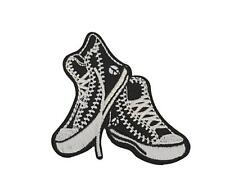 Funky High Top Sneakers Cosplay Novelty Embroidered  Iron On Patch