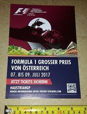 Austrian Grand Prix 2017 Publicité Flyer (A5 Taille)