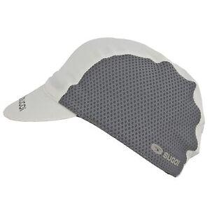SUGOI 92955U MEN'S WOMEN'S RS CAP CYCLING, RUNNING HAT BASEBALL CAP, WHITE/SMOKE