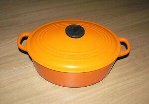 Le Creuset Volcanic Orange Cast Iron Oval Casserole  -  27 cm