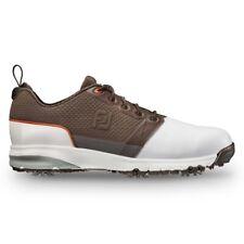 NEW Mens FootJoy FJ Contour FIT Golf Shoes 54096 White / Dark Brown Sz 8 M