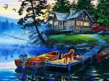 House,Boat,Dog scene Diamond Painting Kit 40 x 30 cm like cross stitch