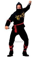 Ninja Costume Mens Adults Quality Standard Size Black Fancy Dress 55026 Rubies