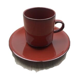 Villeroy & Boch GRANADA RED  FLAT CUP & SAUCER  - Luxembourg Brand New