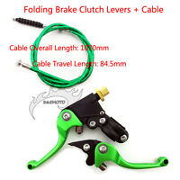 Folding Brake Clutch Levers Cable For SDG SSR Coolster CRF 50 70 KLX110 YX Bike