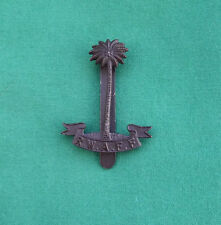 """Royal West African Frontier Force """"FIRMIN"""" - Military Cap Badge {RS*-10/18}"""
