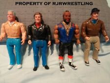 "Vintage 1983 Galoob A-Team Set Of 4 Loose 6.5"" Figures Ba Face Hannibal Murdock"