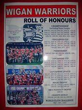 Wigan Warriors club history roll of honours - souvenir print
