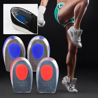 1 Pair Silicone Insole Heel Height Lift Insert Shoe Pad Cushion Elevator Taller