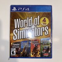 World of Simulators: Sony PlayStation 4 PS4 Brand New SEALED FREE SHIPPING
