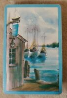 Vintage Playing Cards - Blue Edged With Harbor - Full Deck