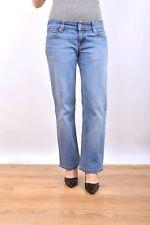 LEVIS 570 Femme Bleu Coupe Droite Denim Délavé Jeans Stretch Red Tab W29 L28 Uk12