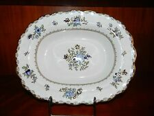 "10 1/4"" OBLONG SERVING DISH - BOOTH'S ENGLAND CHINA PATTERN A8086 SCALLOPED RIM"