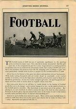 1930 ADVERT 9 PG College Football Games John Heisman Article Scores Recap