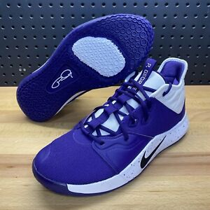 Nike Paul George PG 3 TB Promo Purple Basketball CN9513-501 Men's Size 11.5