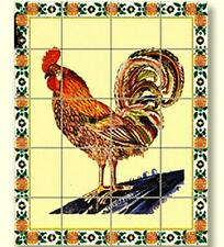 Dollhouse Rooster Picture Mosaic Tile Sheet 34860 World Model Miniatures