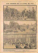 Artillerie Canon de 75 Poilus Convoi Autobus Bataille d'Artois France WWI 1914