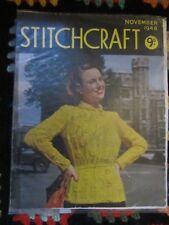 Stitchcraft Ladies Vintage Knitting Pattern Magazine November 1948