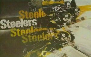 Pittsburgh Steelers Poster  Mean Joe - Bradshaw - Lambert - Franco Harris  Swann