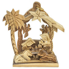 Christmas Nativity Scene Natutal Olive Wood Handmade from Bethlehem 3.8''/9.5 cm